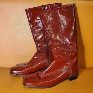 La Canadienne Red Leather Boot